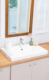 洗面所の蛇口交換、水漏れ修理、排水口のつまりなど洗面所の水トラブルに即対応
